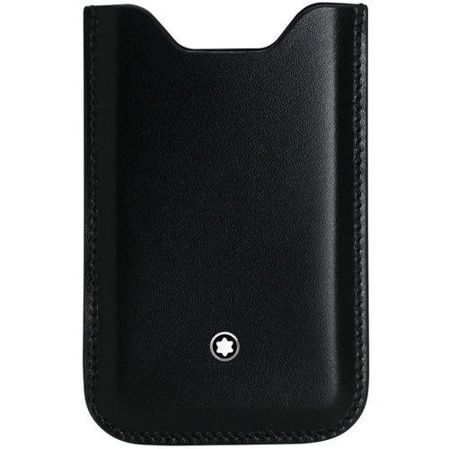 Чехол Montblanc черный кожаный для iPhone 5, фото