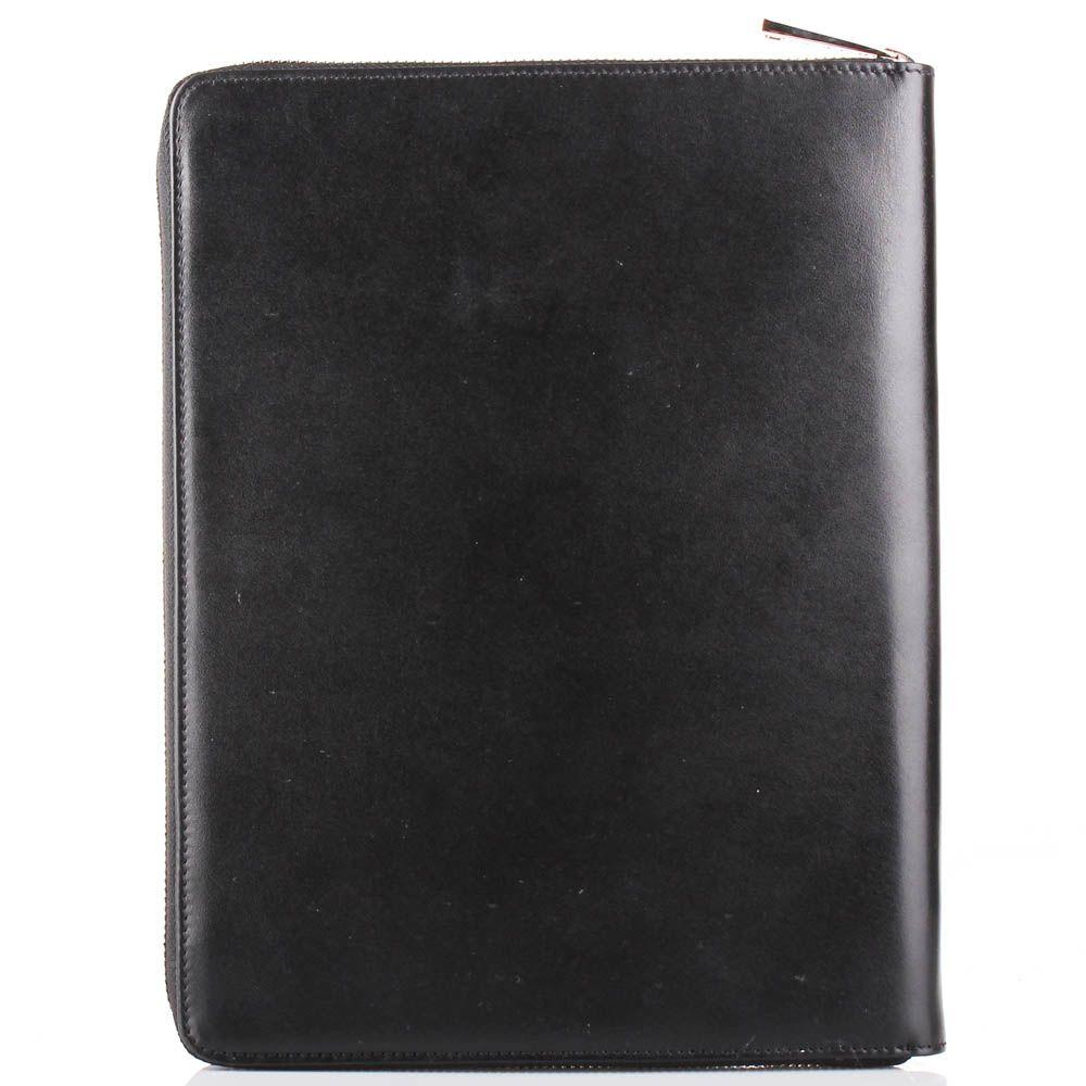 Чехол для планшета Baldinini черного цвета из гладкой кожи с дополнительными отделениями внутри