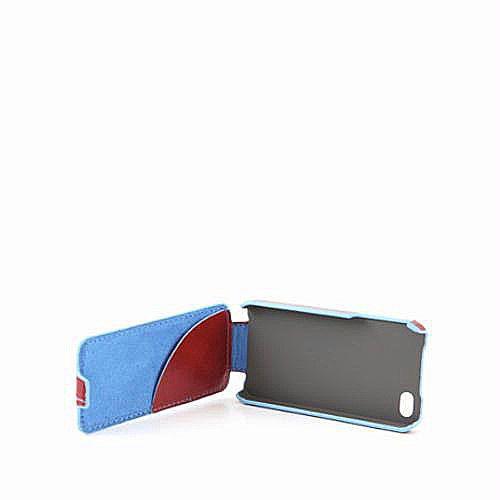 Чехол для iPhone 4 с откидной крышкой Piquadro Blue Square красный