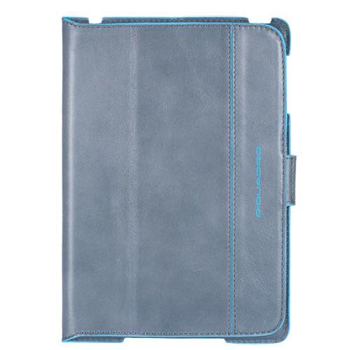 Чехол Piquadro Blue square для IPad Mini из серо-голубой кожи