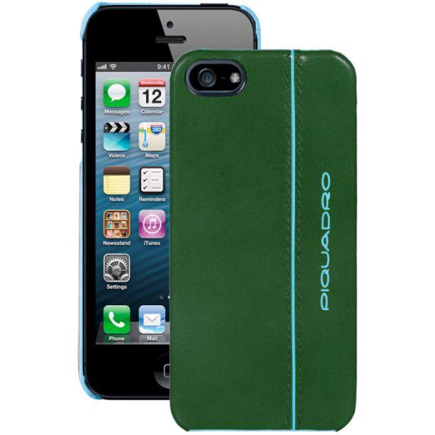 Чехол Piquadro Blue square для iPhone 5 кожаный зеленый