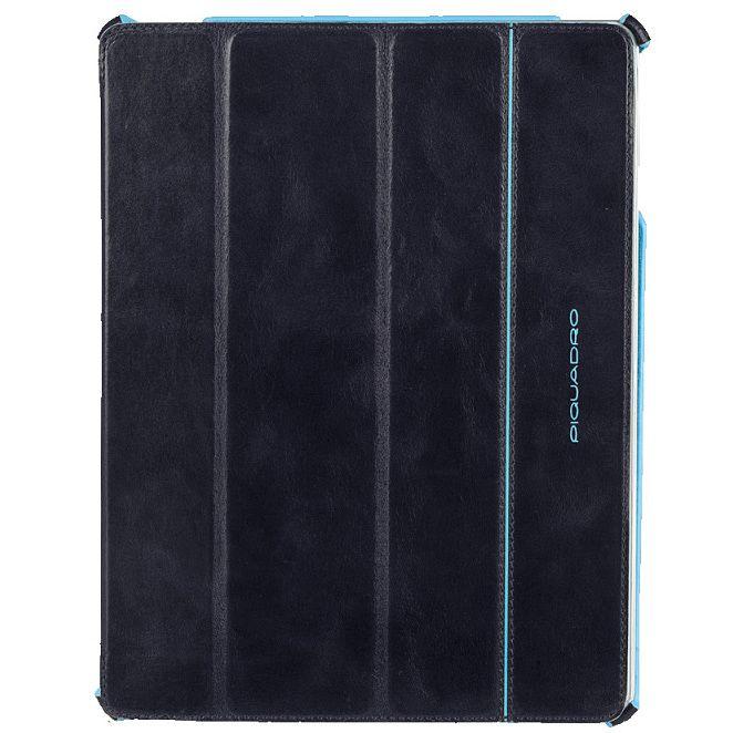 Чехол Piquadro Blue Square для iPad 2/New iPad из кожи синего цвета