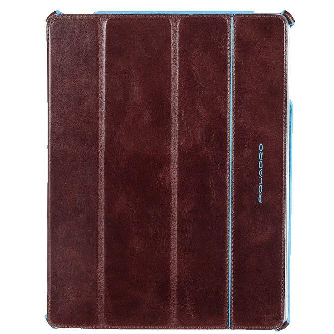 Чехол Piquadro Blue Square для iPad 2/New iPad из кожи коричневого цвета