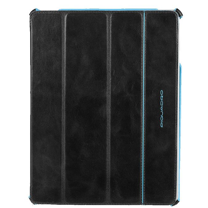 Чехол Piquadro Blue Square для iPad 2/New iPad из кожи черного цвета