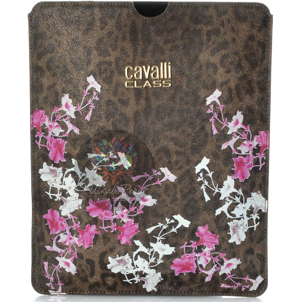 Чехол Cavalli Class Lara Flowers с бело-розовыми цветами для iPad, планшета
