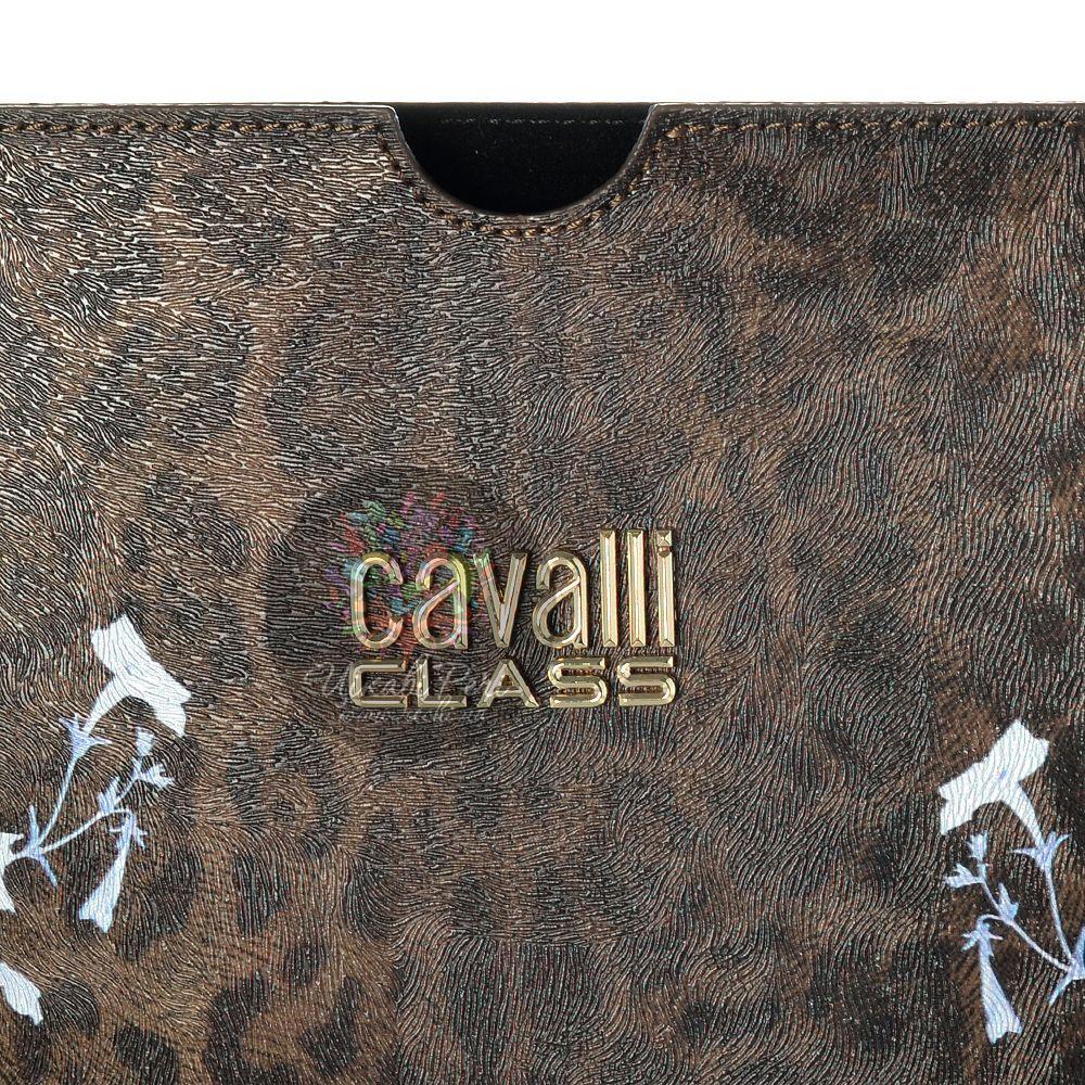 Чехол Cavalli Class Lara Flowers с бело-голубыми цветами для iPad, планшета