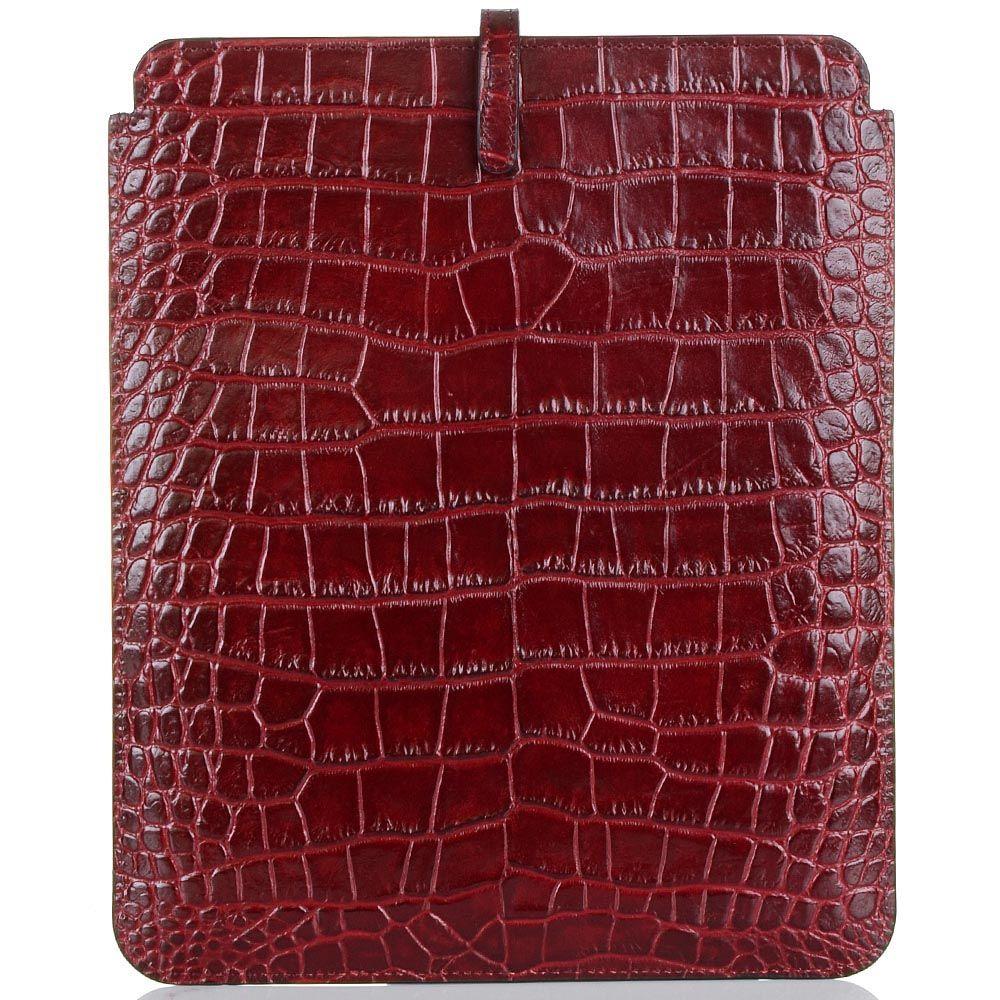 Чехол для iPad Cavalli Class Daphne кожаный бордовый