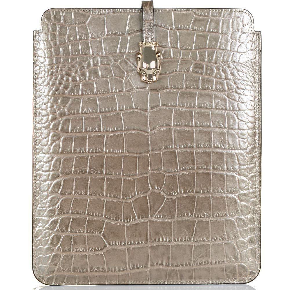 Чехол для iPad Cavalli Class Daphne кожаный бронзово-жемчужный