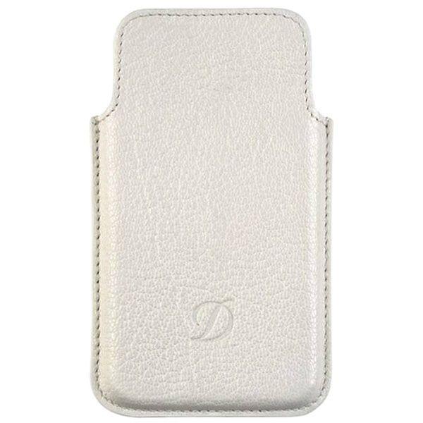 Белый кожаный чехол S.T.Dupont для iPhone 5