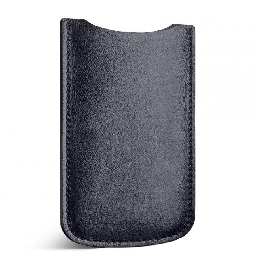Кожаный черный чехол Moreca для iPhone 5