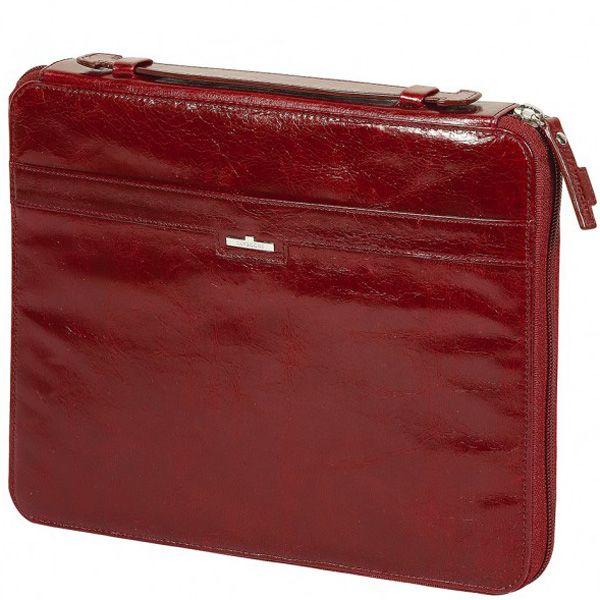 Чехол Tavecchi Vintech для планшета 10' красный кожаный на молнии с ручкой
