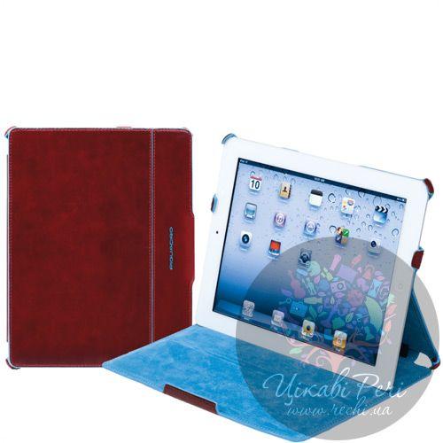 Чехол Piquadro Blue Square для iPad 2 из кожа красный, фото