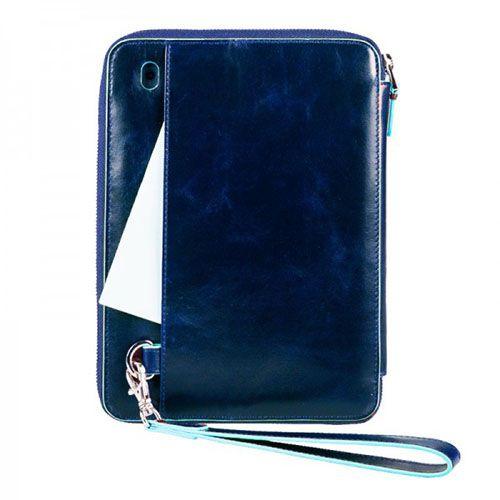 Чехол Piquadro Blue square для IPad Mini из синей кожи, фото