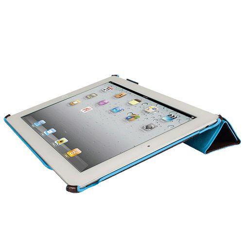 Чехол Piquadro Blue Square для iPad 2/New iPad из кожи синего цвета, фото