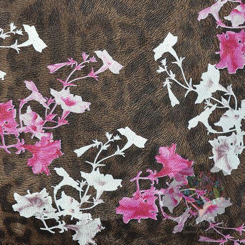 Чехол Cavalli Class Lara Flowers с бело-розовыми цветами для iPad, планшета, фото