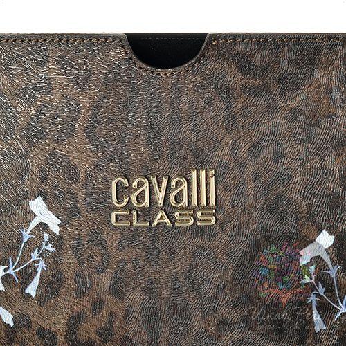 Чехол Cavalli Class Lara Flowers с бело-голубыми цветами для iPad, планшета, фото