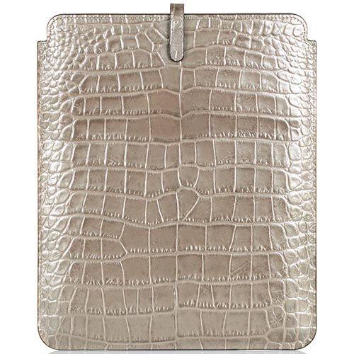 Чехол для iPad Cavalli Class Daphne кожаный бронзово-жемчужный, фото