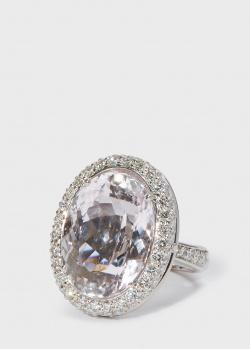 Коктейльное золотое кольцо Zarina by Roman Bayand с кунцитом (21,76 ct), фото