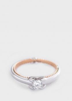 Кольцо из белого и красного золота с бриллиантами, фото