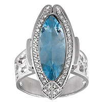Перстень Nina Ricci с бриллиантами и топазом, фото