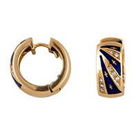 Серьги-кольца Faberge из желтого золота с бриллиантами, фото