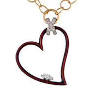 Цепочка Faberge из желтого золота с кулоном-сердцем, фото