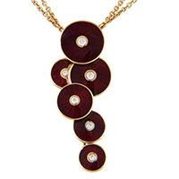 Золотая цепочка с кулоном Faberge с бриллиантами, фото