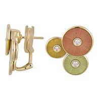 Разноцветные серьги Faberge с бриллиантами, фото