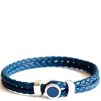 Браслет Totem Adventure Jewelry Spot Blue из кожи синего цвета, фото