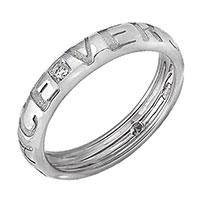 Обручальное кольцо Versace из белого золота с бриллиантом, фото