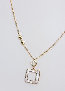 Золотое колье Itisi Threads and drops с перламутровой вставкой, фото
