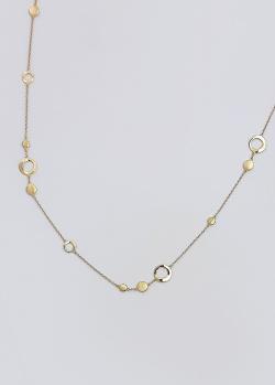 Золотое колье Itisi Threads and drops с матовыми кольцами, фото
