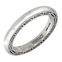 Обручальное кольцо Versace с брендовым орнаментом, фото