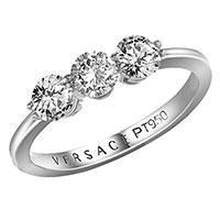 Кольцо Versace из платины с бриллиантами, фото