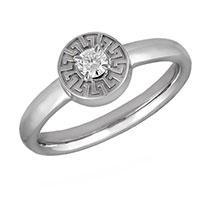 Помолвочное кольцо Versace с фирменным тиснением, фото