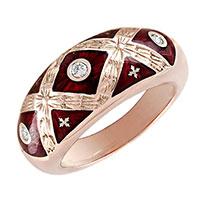 Золотое кольцо Faberge с бриллиантами, фото
