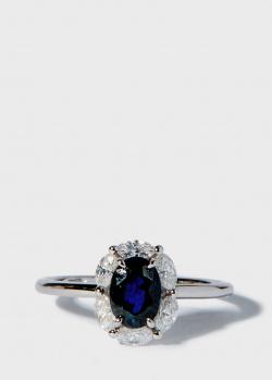 Перстень Zarina Кольори Кохання с сапфиром (1,19 ct) и бриллиантами, фото