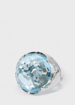 Коктейльное кольцо Zarina by Roman Bayand с топазом (24,94 ct) и бриллиантами, фото