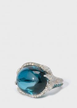 Коктейльное кольцо с топазом Zarina by Roman Bayand в бриллиантах и турмалинах, фото