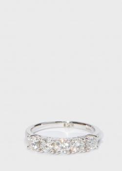 Золотое кольцо Zarina One Love с бриллиантовой дорожкой (1,13 ct), фото