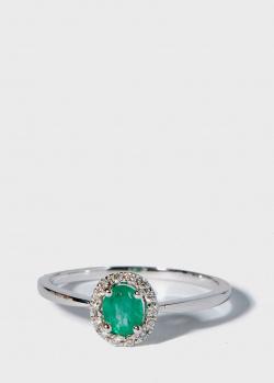 Перстень Zarina Кольори Кохання с изумрудом и бриллиантами, фото
