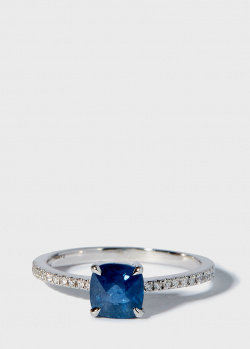 Перстень Zarina Prive с синим сапфиром (1,27 ct) и бриллиантами, фото
