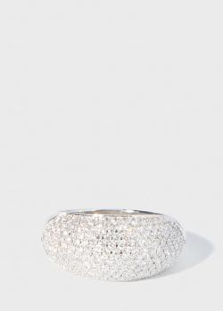 Широкое кольцо Zarina Sparkling Eyes с бриллиантовой дорожкой (1,16 ct), фото