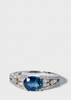 Перстень Zarina Prive с сапфиром (1,47 ct) и бриллиантами, фото