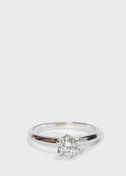 Кольцо Zarina One Love из белого золота с бриллиантами, фото