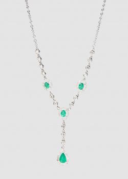 Колье Zarina Кольори Кохання с бриллиантами и изумрудами, фото