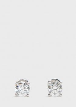 Пусеты Zarina One Love с бриллиантами (1,41 ct), фото