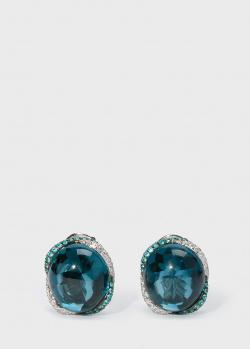 Серьги с топазами Zarina by Roman Bayand в бриллиантах и турмалинах, фото