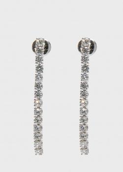 Серьги-дорожка Zarina Sparkling Eyes с бриллиантами, фото
