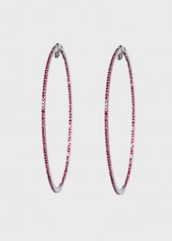Серьги-кольца Zarina Sparkling Eyes в рубинах (1,44 ct), фото